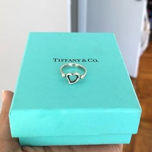 Tiffany & Co Elsa Peretti open heart ring size 5
